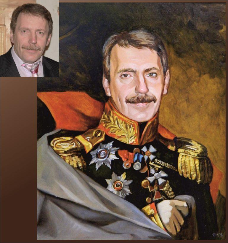 Настоящий портрет маслом на заказ в Хабаровске…