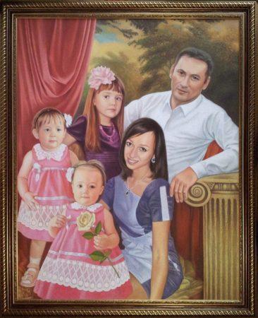 Семейный портрет маслом в Хабаровске — правильная традиция…