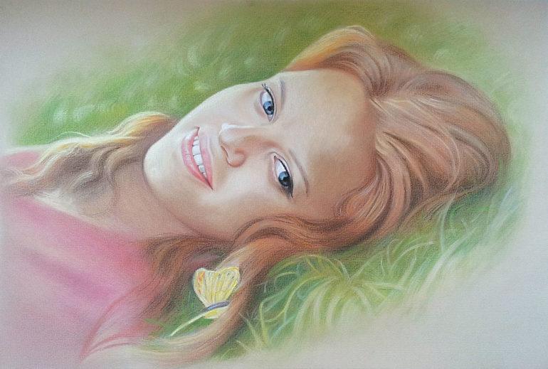 Настоящий портрет пастелью для любимой девушки в Хабаровске, просто и со вкусом!
