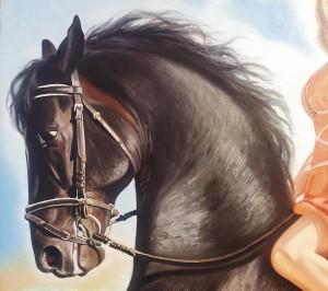 Фрагмент портрета маслом