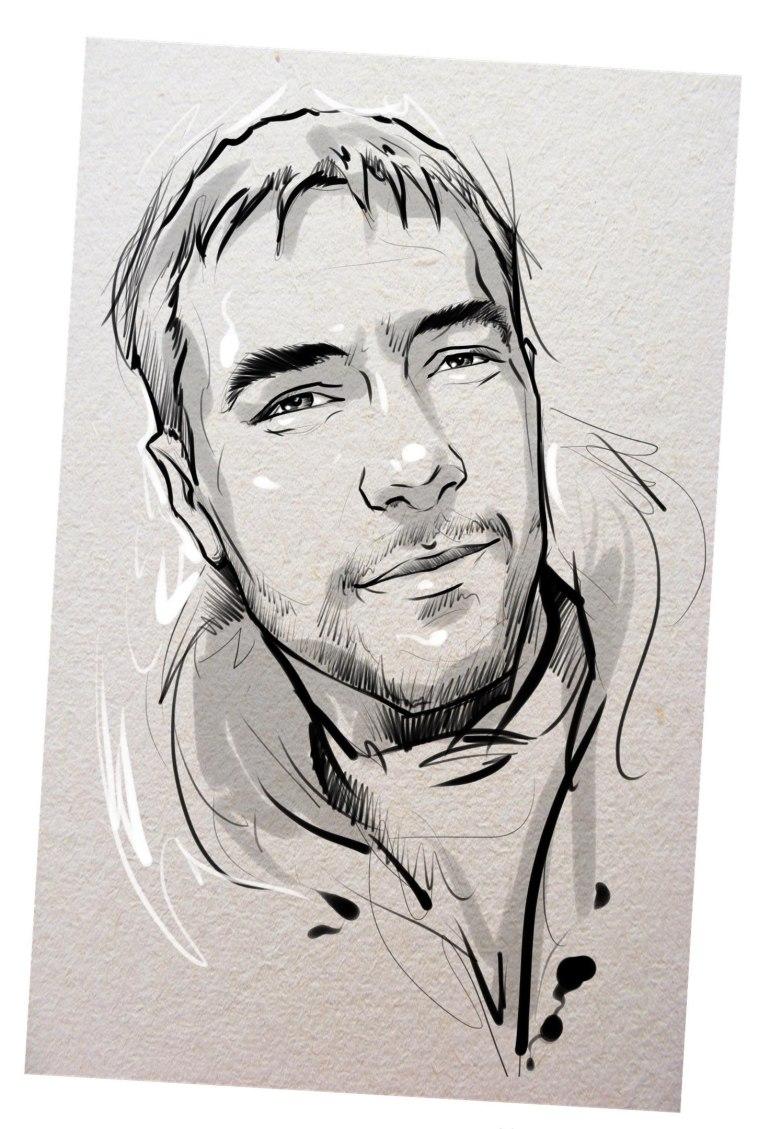 Портрет карандашом любимому мужу в Хабаровске…