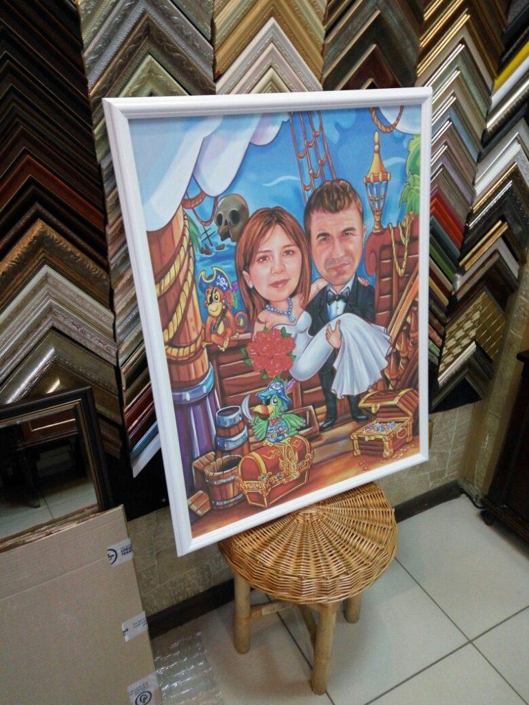 портрет шарж на заказ в хабаровске