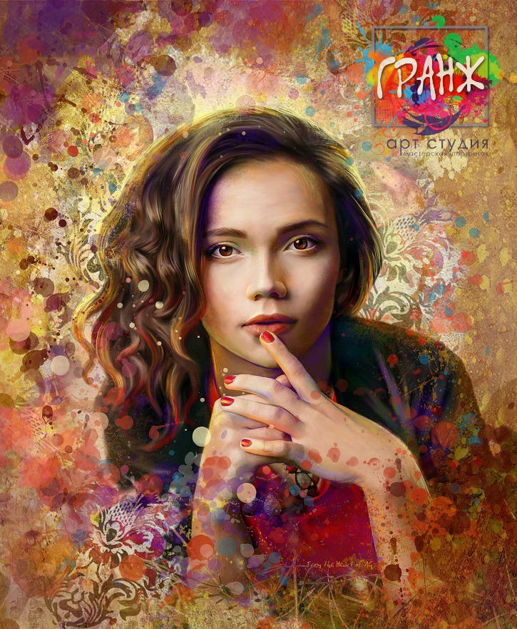 Портрет по фото, подарок на 14 февраля заказать Хабаровск