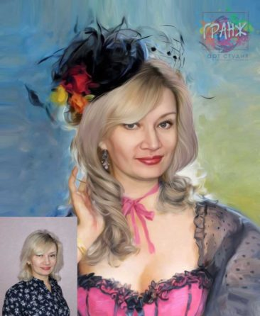 Заказать арт портрет по фото на холсте в Хабаровске