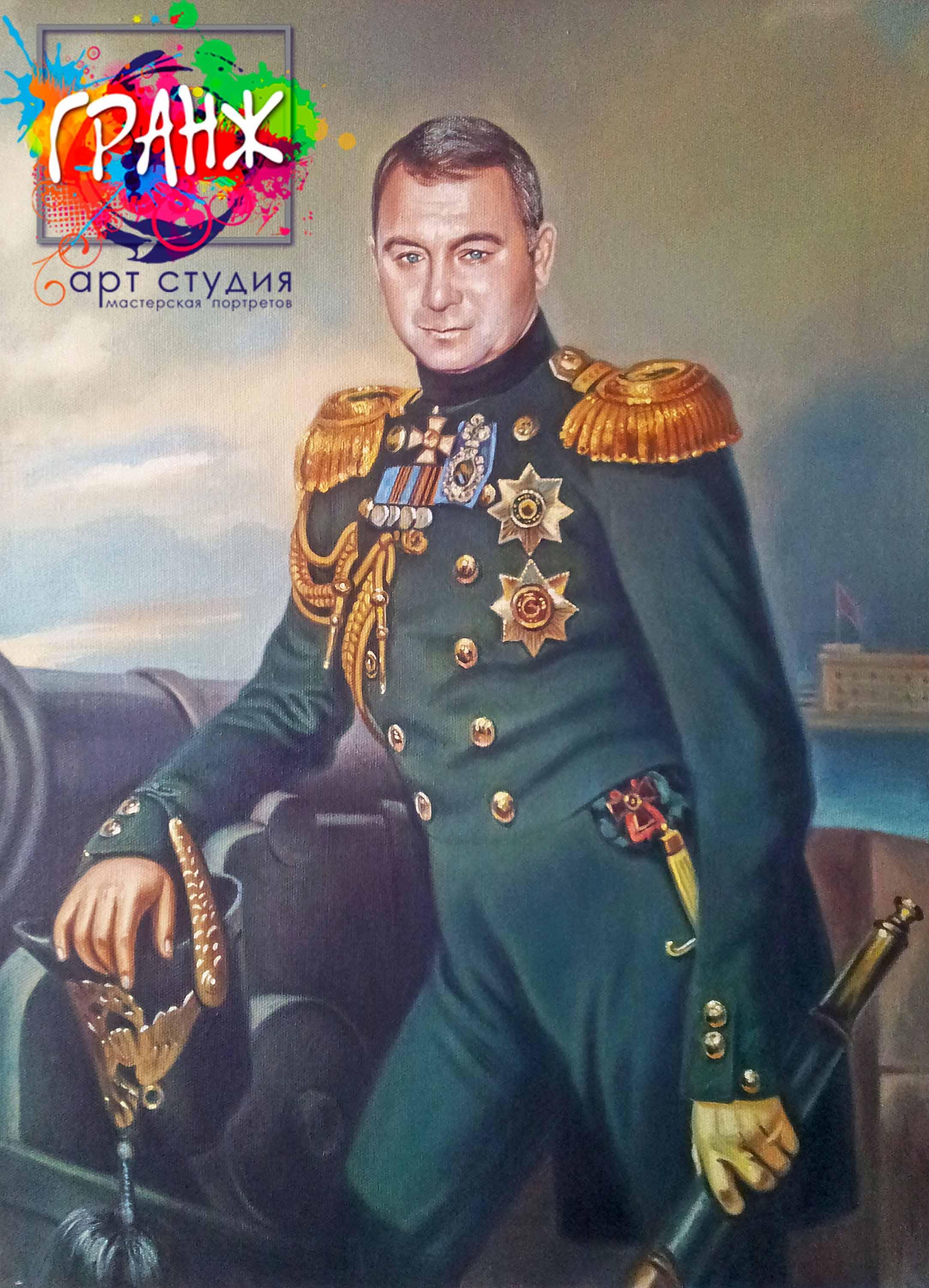 Заказать портрет маслом по фотографии в Хабаровске