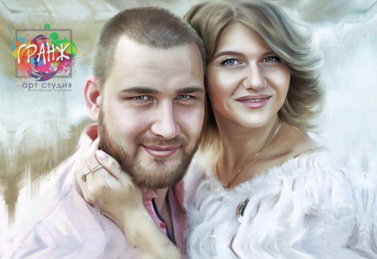 Где заказать портрет по фотографии на холсте в Хабаровске?