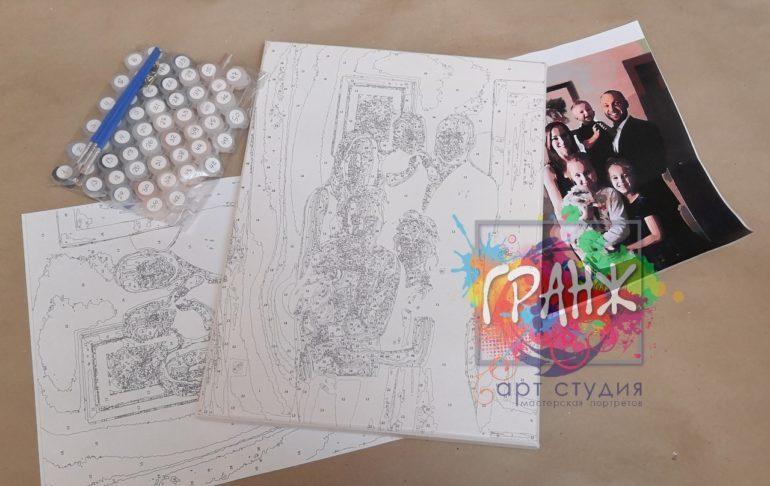 Картина по номерам по фото, портреты на холсте и дереве в Хабаровске